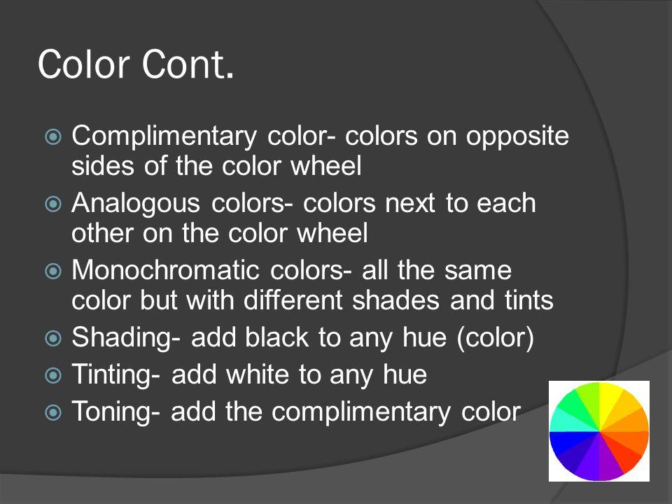 Color Cont.