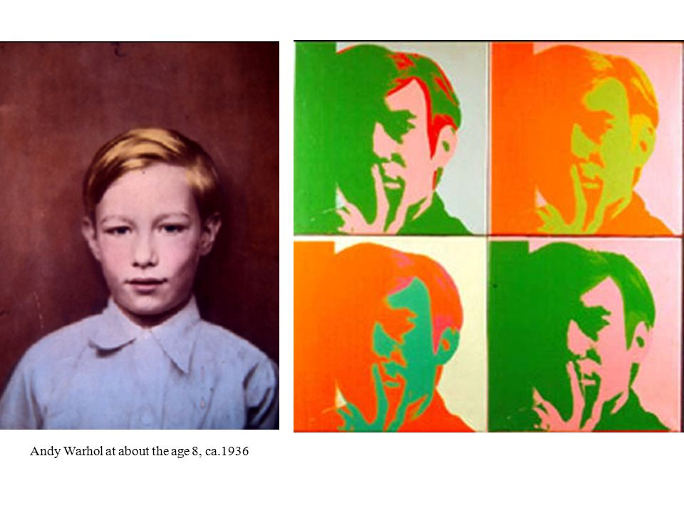 Andy Warhol at about the age 8, ca.1936