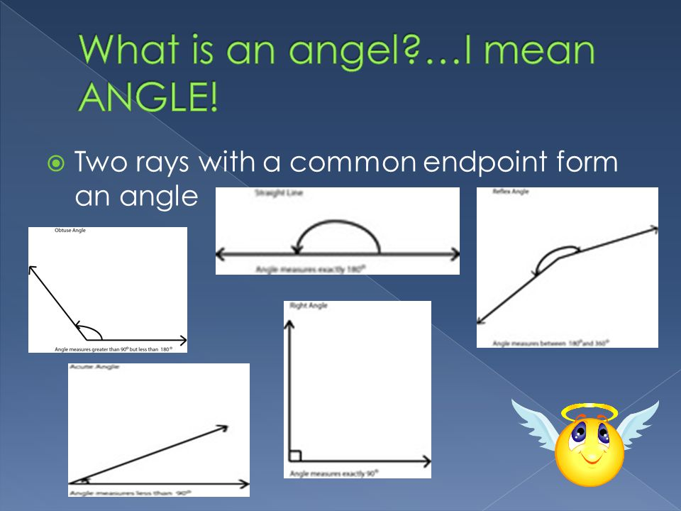  Two rays with a common endpoint form an angle