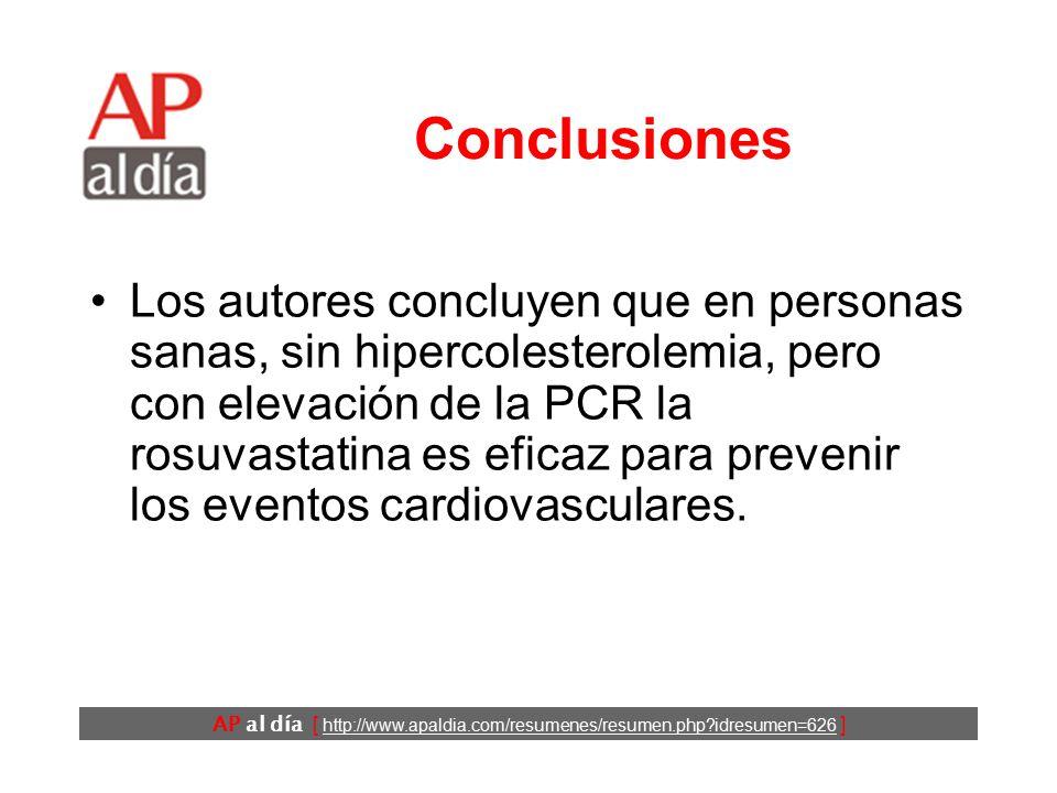 AP al día [ http://www.apaldia.com/resumenes/resumen.php?idresumen=626 ] Resultados (6) No se detectaron diferencias importantes en el número de efectos adversos importantes entre los dos grupos, incluyendo: –trastornos miopáticos y –elevaciones de las transaminasas >3 veces el valor normal.