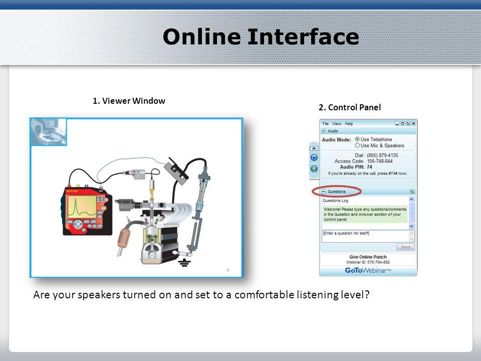 Online Interface 1. Viewer Window 2.