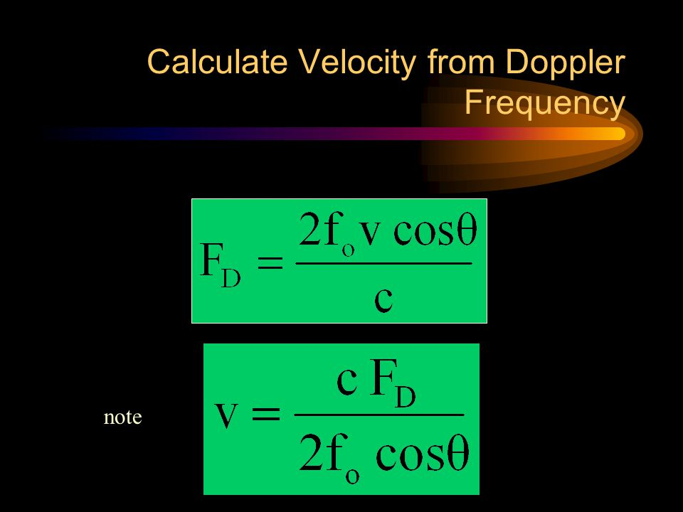 Calculate Velocity from Doppler Frequency note