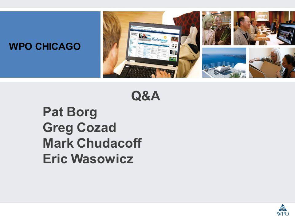 WPO CHICAGO Q&A Pat Borg Greg Cozad Mark Chudacoff Eric Wasowicz