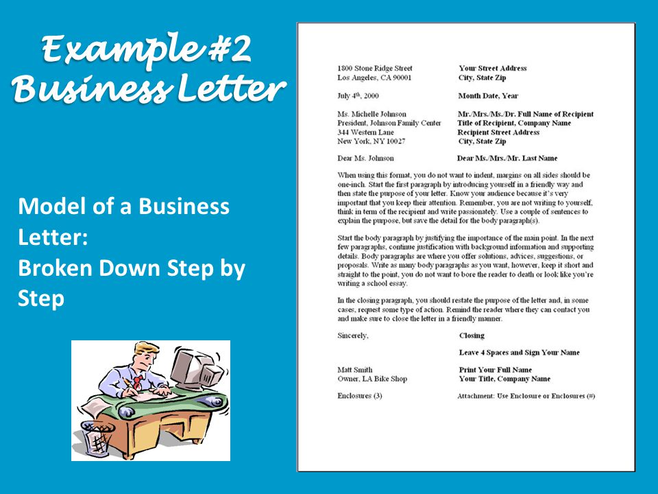 Model of a Business Letter: Broken Down Step by Step