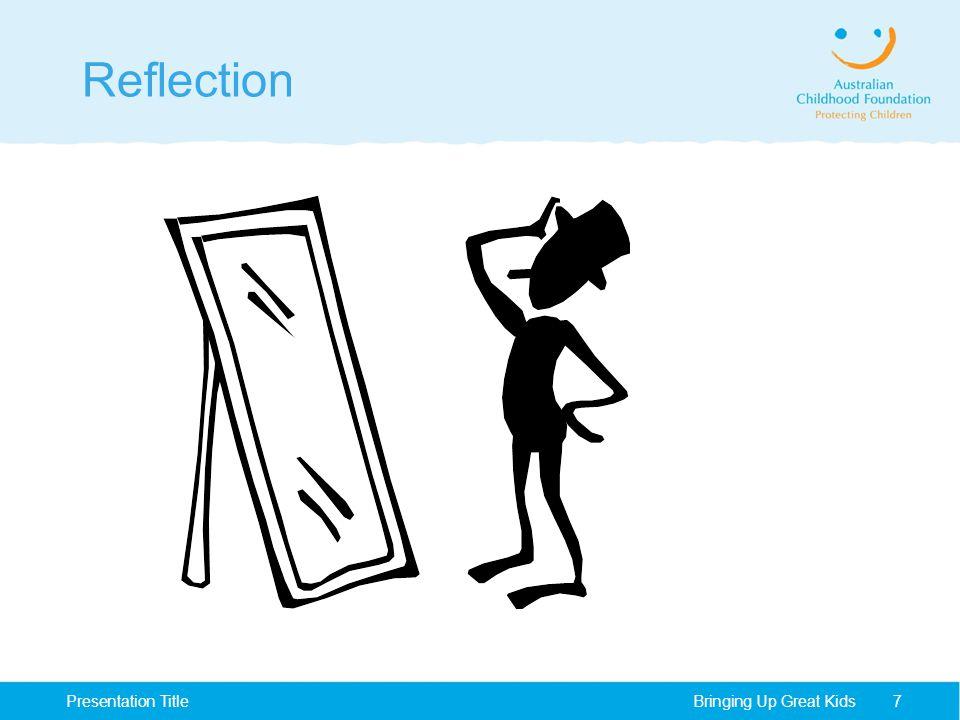 Reflection Bringing Up Great KidsPresentation Title7