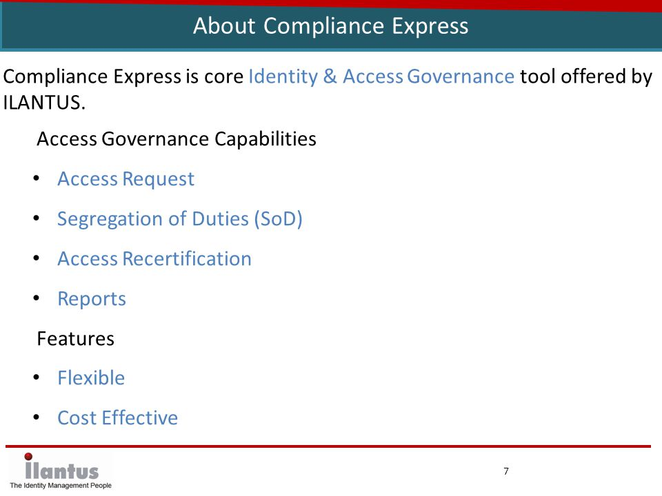 8 ISIM-Compliance Express Integration Summary Integrated and complimentary to ISIM – leverages ISIM data Extend ISIM's access intelligence and certification capabilities Adds SoD validation and Access Risks analysis ISIM collects and syncs data, and manages user provisioning workflows, Compliance Express delivers Access Intelligence Additional Advanced fine grained access certifications – User, OU, Application & Entitlements level.