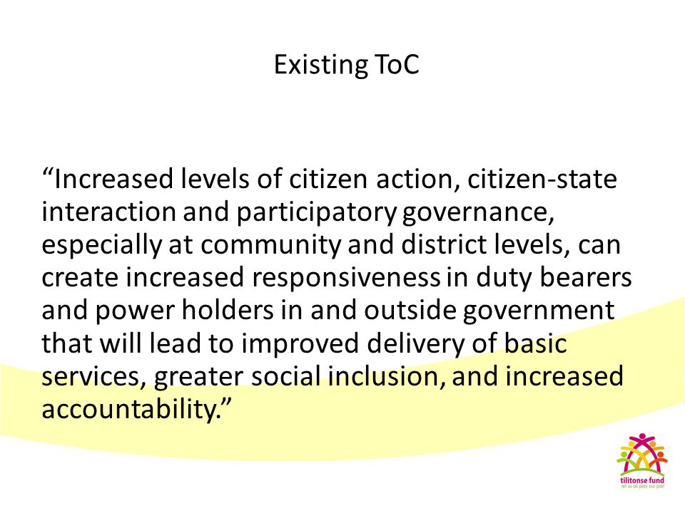 """Increased levels of citizen action, citizen-state interaction and participatory governance, especially at community and district levels, can create i"
