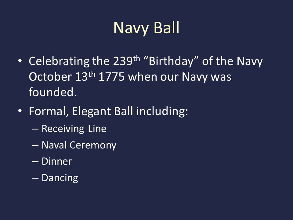 2014 Western Alamance NJROTC NAVY BALL October 17 th 1830 at the Alamance Country Club