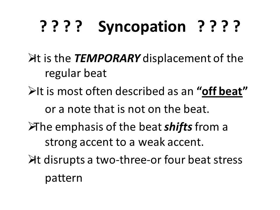 Syncopation .