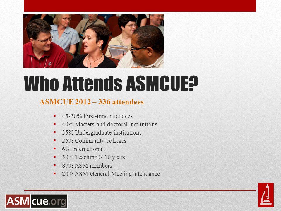 Who Attends ASMCUE.