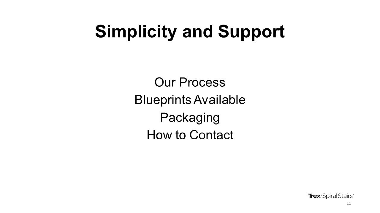 Simplicity and Support Our Process Blueprints Available Packaging How to Contact 11