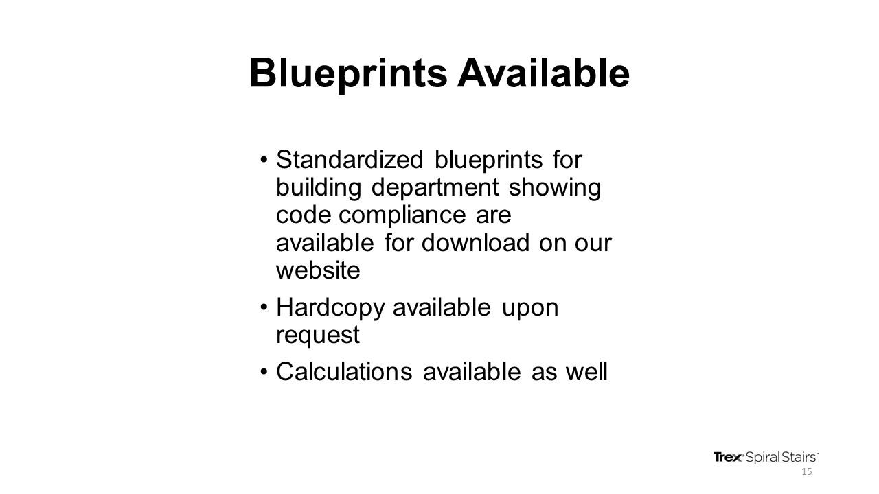 Blueprints Available Standardized blueprints for building department showing code compliance are available for download on our website Hardcopy availa