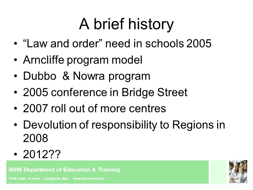 NSW Department of Education & Training NSW Public Schools – Leading the Way www.det.nsw.edu.au Constructive reporting