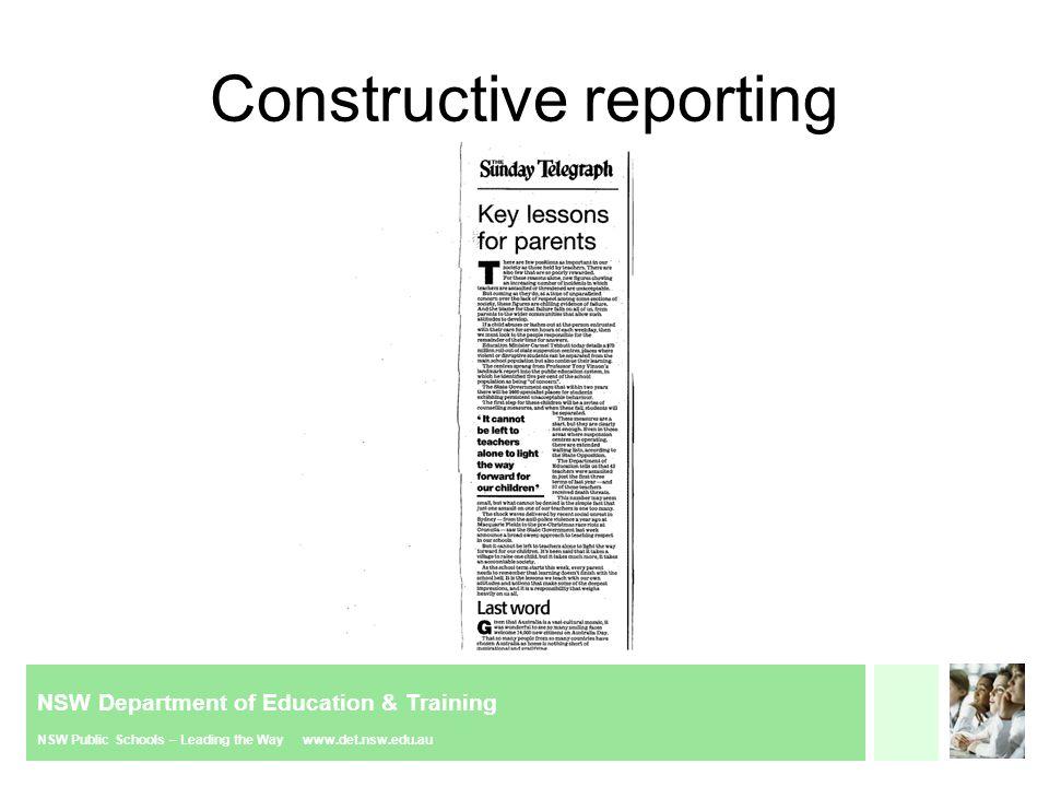 NSW Department of Education & Training NSW Public Schools – Leading the Way www.det.nsw.edu.au Provide advice
