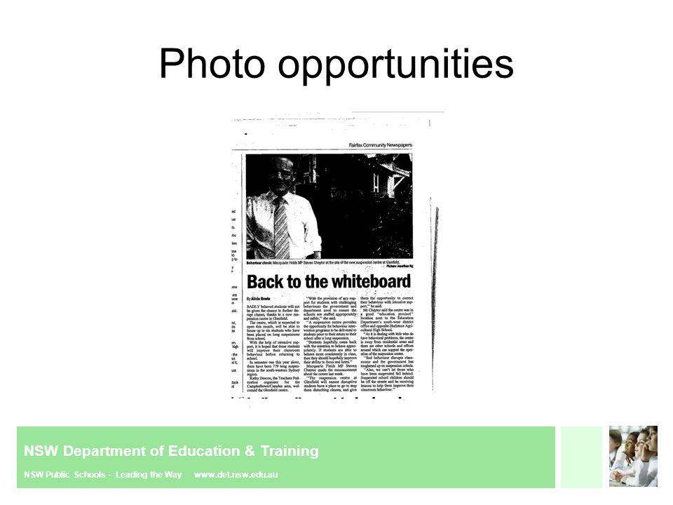 NSW Department of Education & Training NSW Public Schools – Leading the Way www.det.nsw.edu.au Media hype