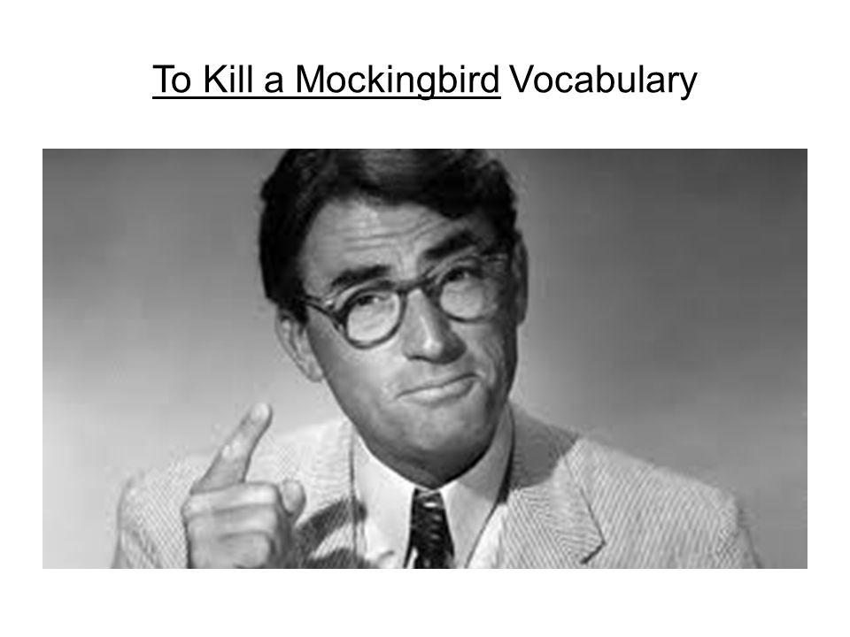 To Kill a Mockingbird Vocabulary