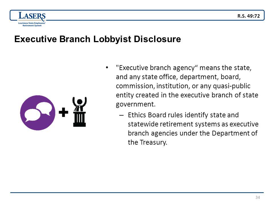 34 Executive Branch Lobbyist Disclosure