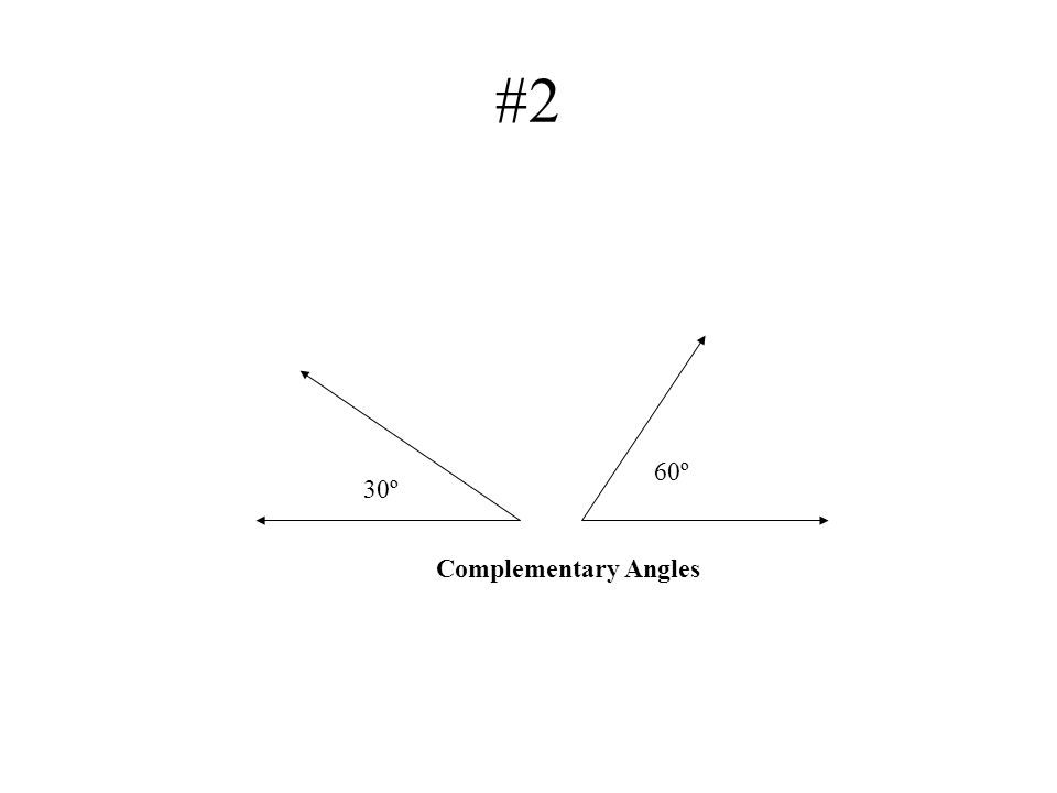 #2 60º 30º Complementary Angles