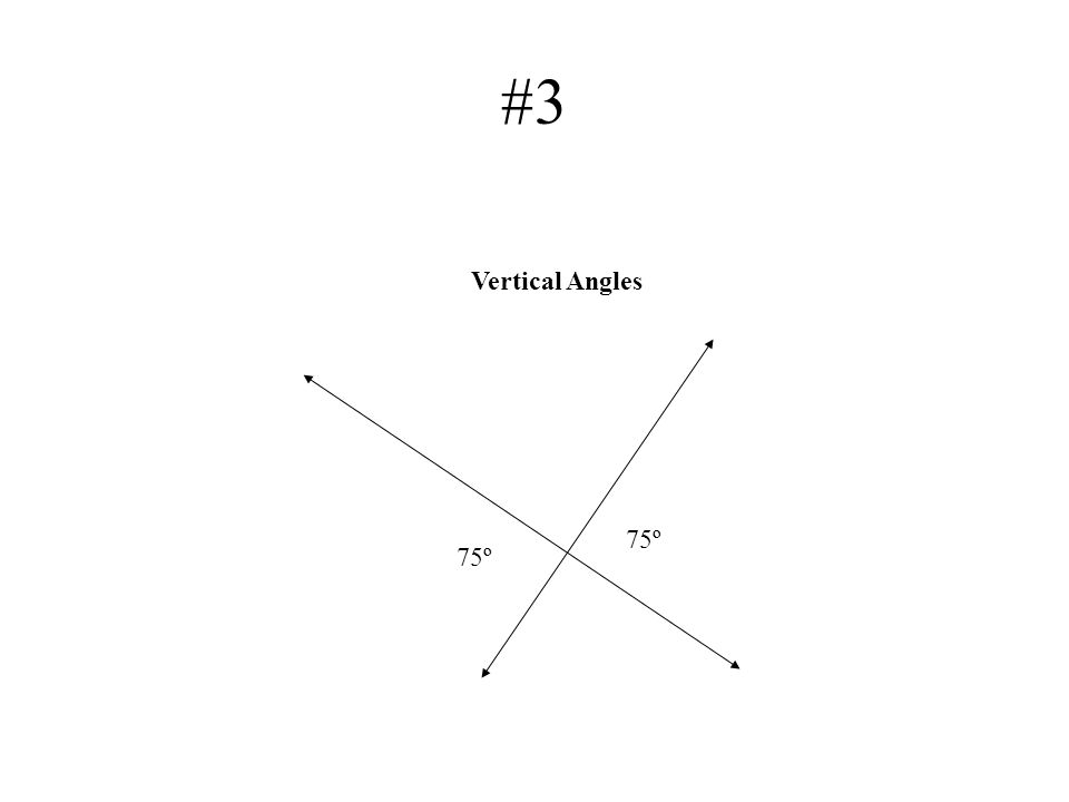 #3 75º Vertical Angles