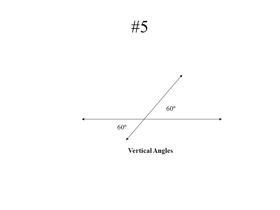 #5 60º Vertical Angles