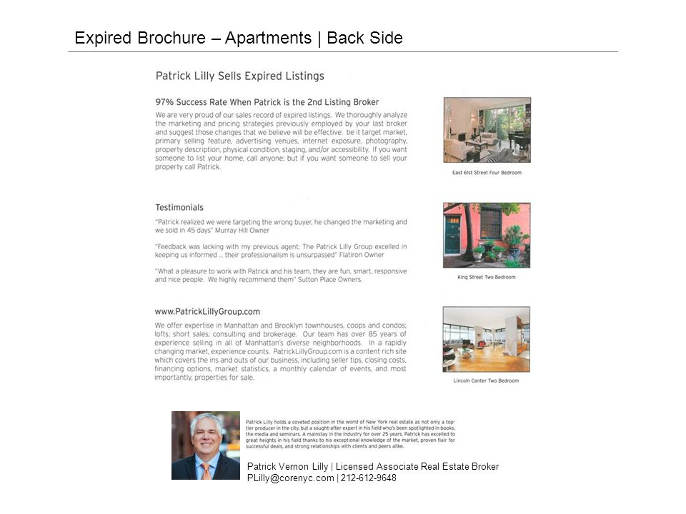 Expired Brochure – Townhouses | Front Side CORE