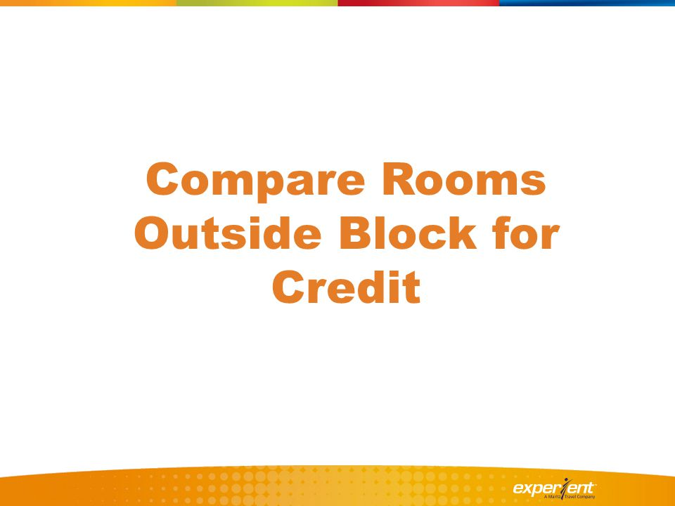 Compare Rooms Outside Block for Credit