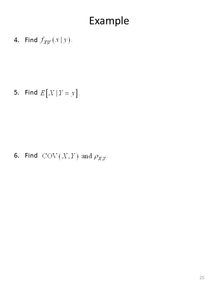 Example 4.Find 5.Find 6.Find 25