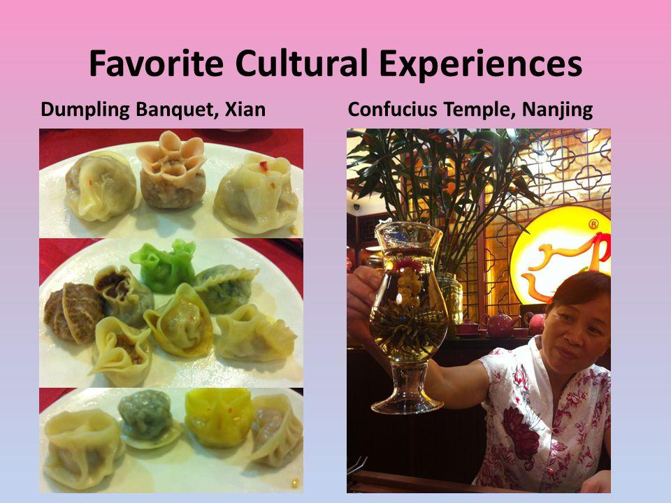 Favorite Cultural Experiences Dumpling Banquet, XianConfucius Temple, Nanjing