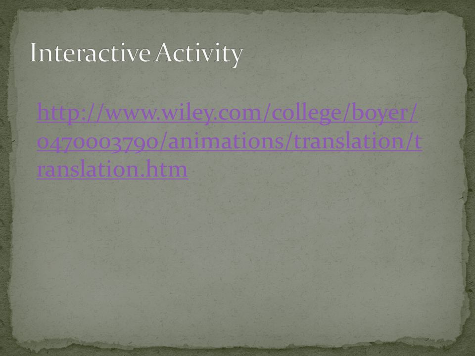http://www.wiley.com/college/boyer/ 0470003790/animations/translation/t ranslation.htm