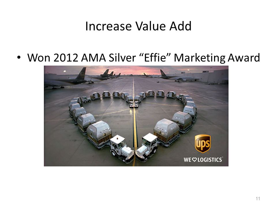 Increase Value Add Won 2012 AMA Silver Effie Marketing Award 11