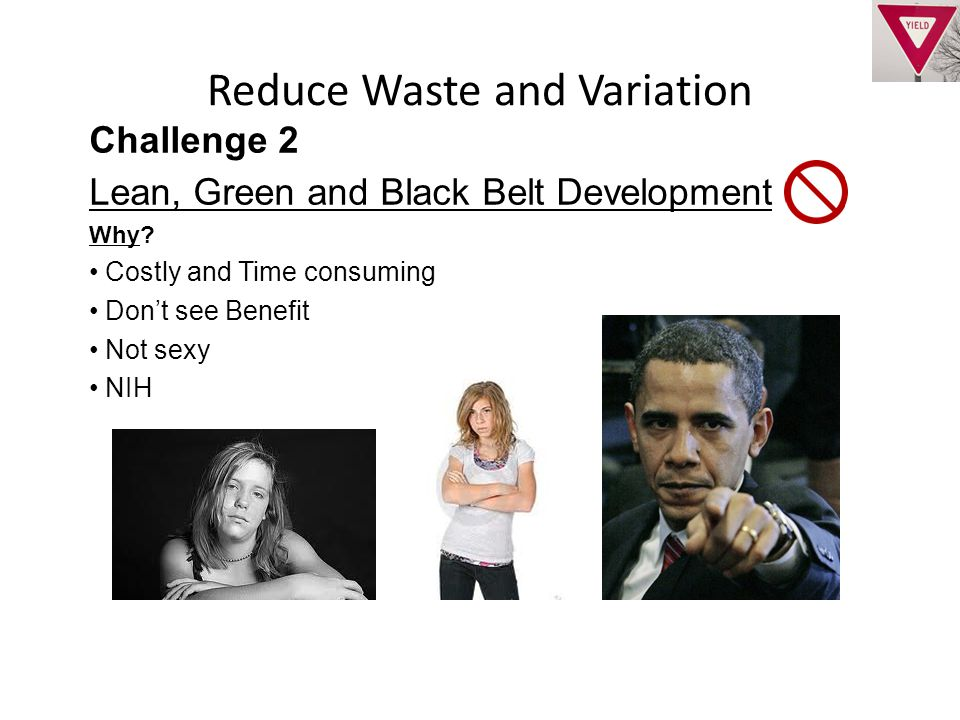 Reduce Waste and Variation Challenge 2 Lean, Green and Black Belt Development Why.