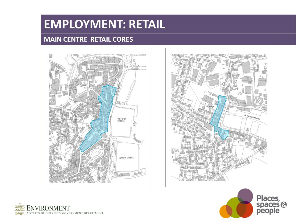 EMPLOYMENT: RETAIL MAIN CENTRE RETAIL CORES