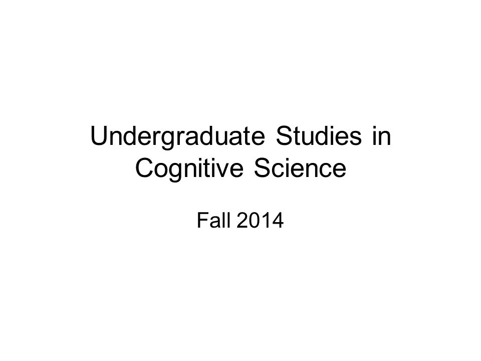 News We had 9 graduating cognitive science majors last spring: –3 straight COGS –1 COGS/CSCI dual –4 COGS/GSAS duals –1 COGS/PHIL dual We have 7 incoming COGS freshmen –Largest incoming cohort so far
