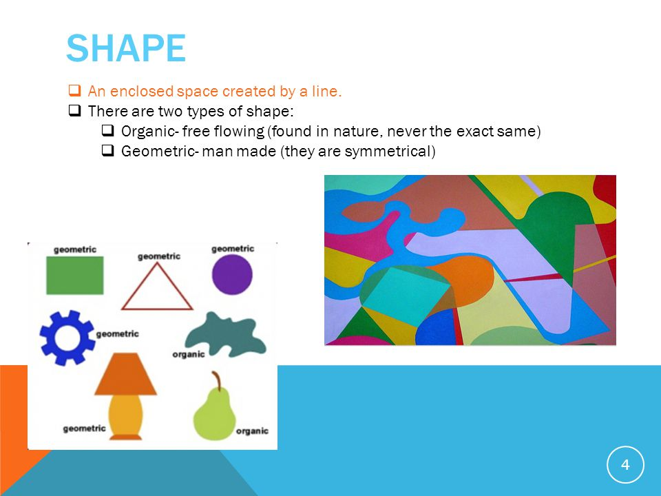 SHAPE 4  An enclosed space created by a line.