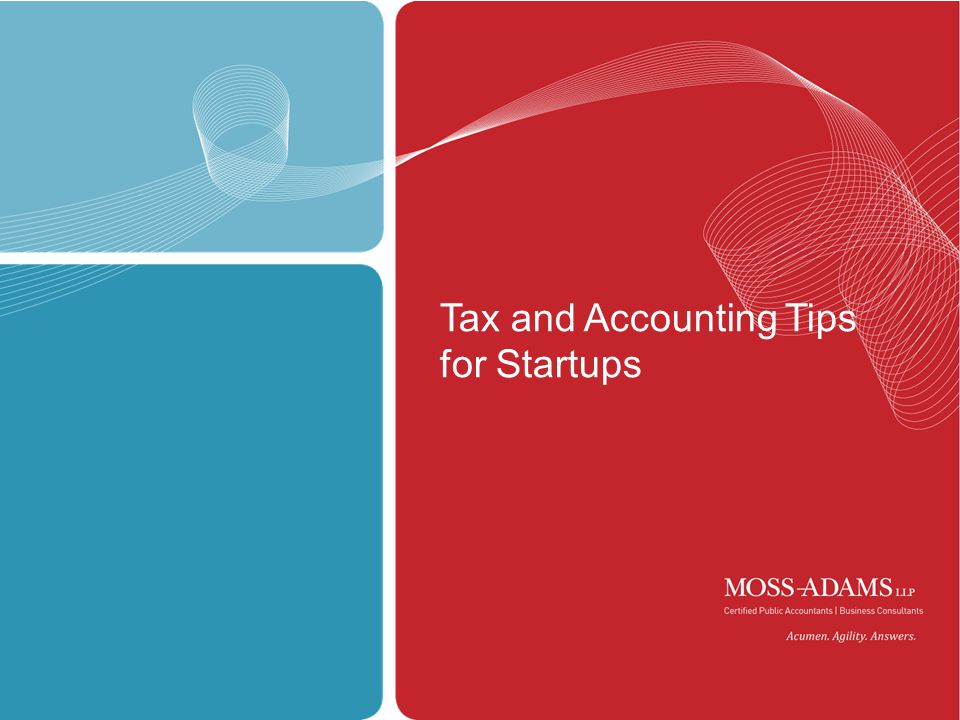 1 Tax and Accounting Tips for Startups
