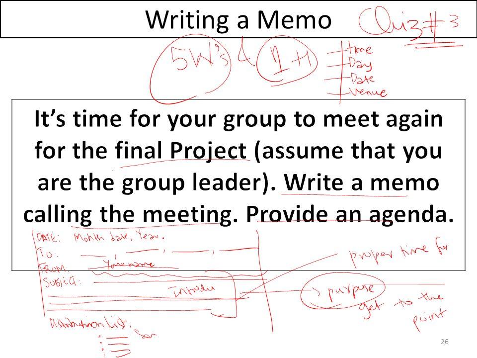 Writing a Memo 26