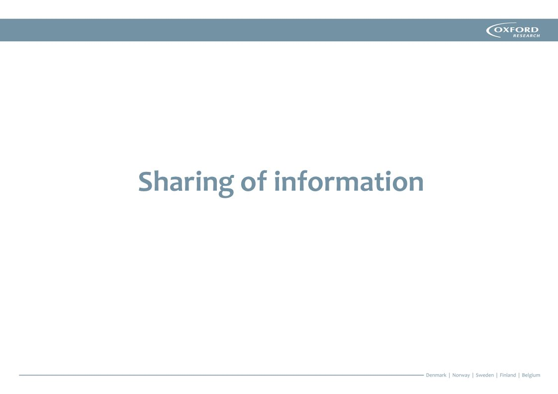 Sharing of information