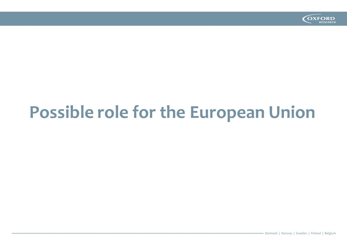 Possible role for the European Union