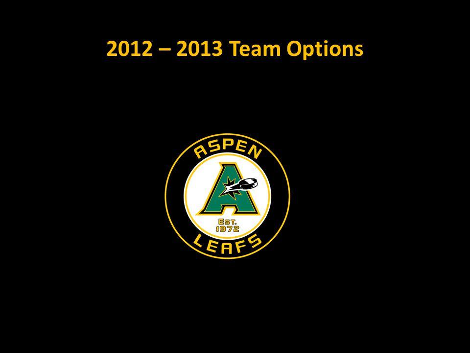 2012 – 2013 Team Options
