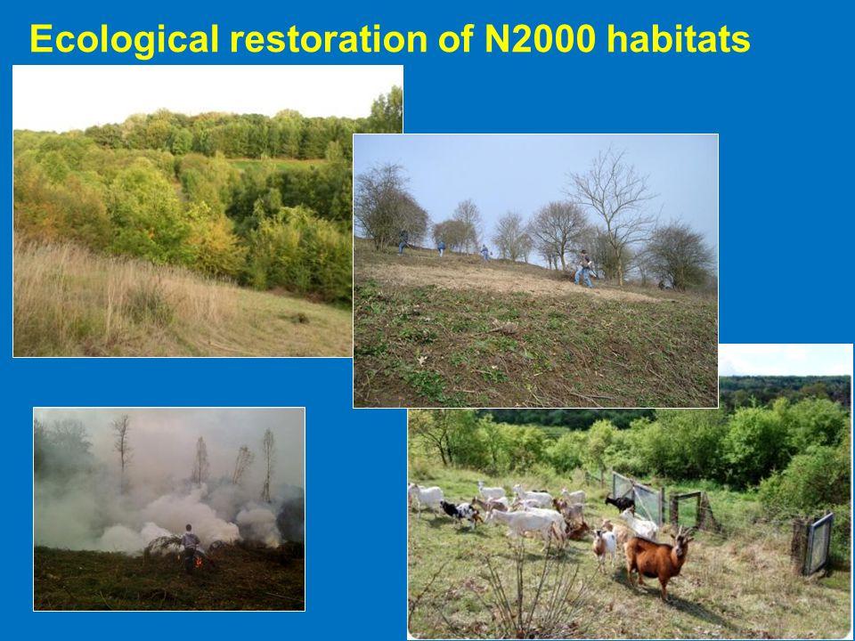Ecological restoration of N2000 habitats