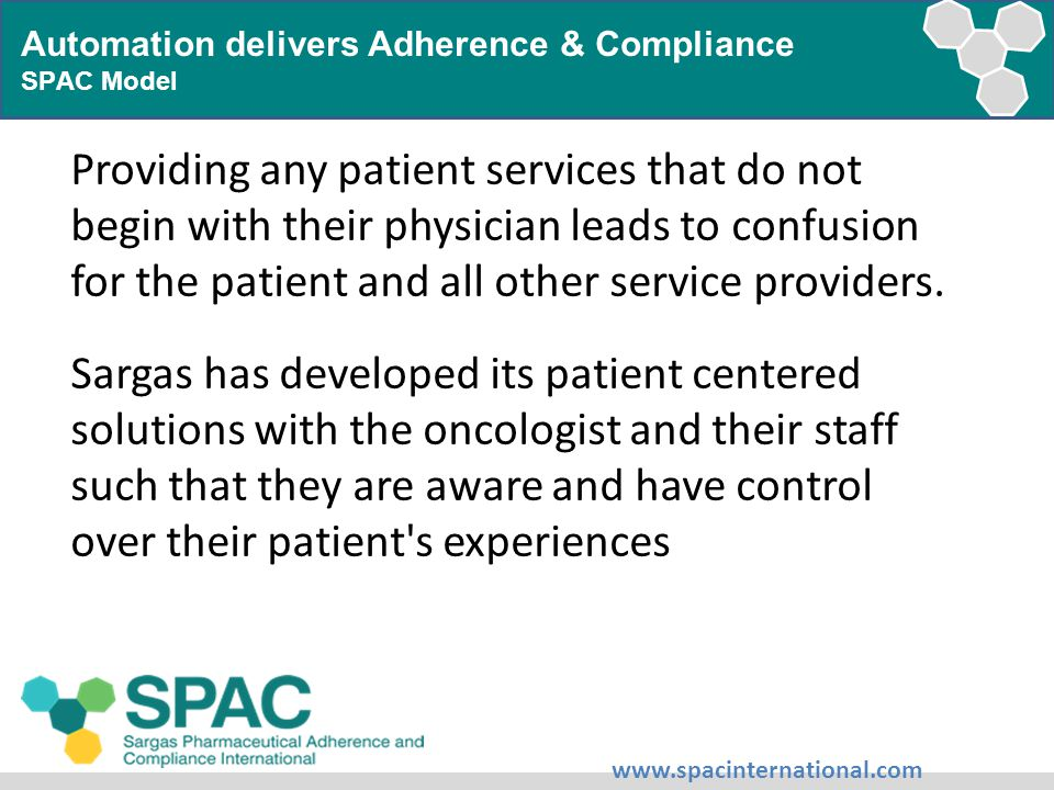 Providing any patient services that do not begin with their physician leads to confusion for the patient and all other service providers.