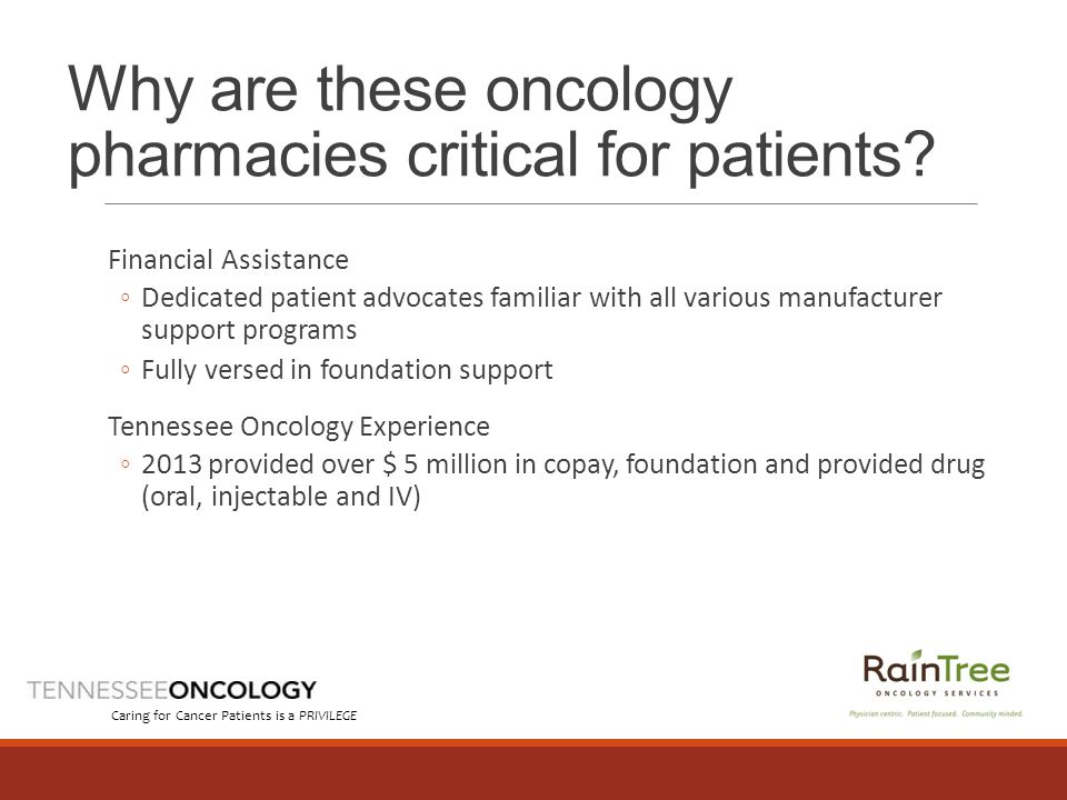 Why are these oncology pharmacies critical for patients.