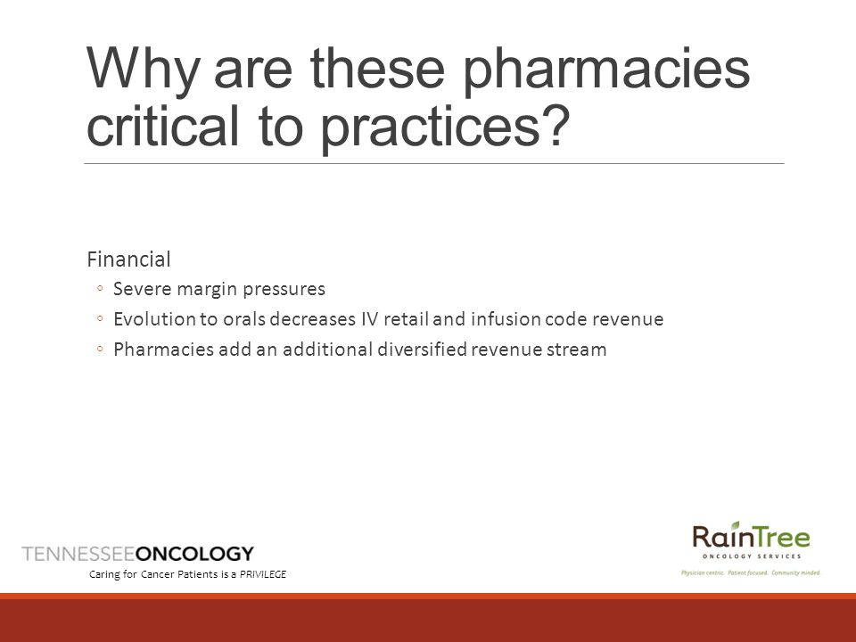 Why are these pharmacies critical to practices.