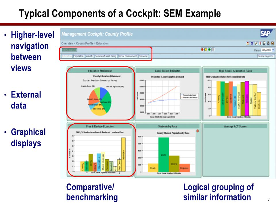 15 When to Consider CPM – Management Cockpits The management cockpits and web rendering closely integrate with the pre-delivered measures in SAP Measure Catalog.