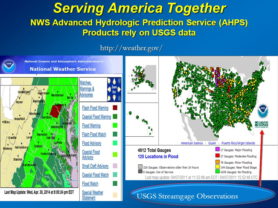 Serving America Together http://water.weather.gov/