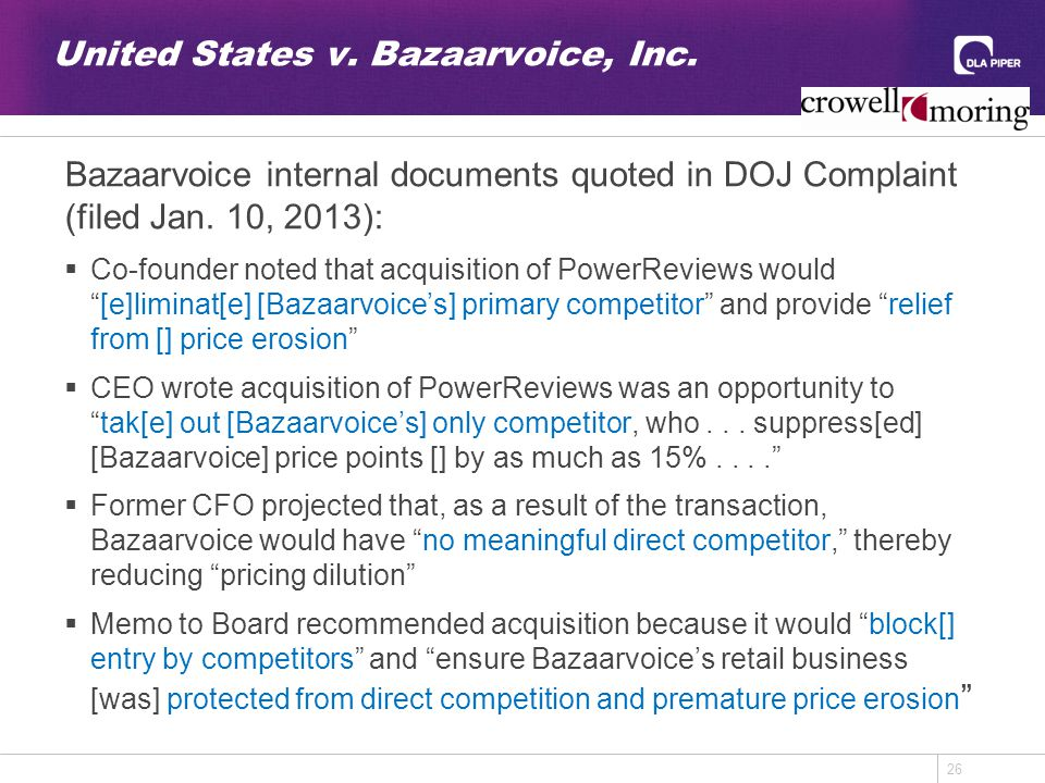 26 United States v. Bazaarvoice, Inc.