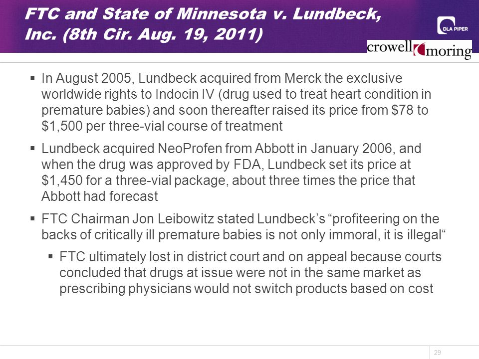 29 FTC and State of Minnesota v. Lundbeck, Inc. (8th Cir.