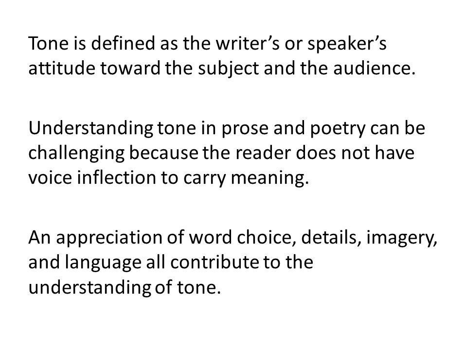 To misinterpret tone is to misinterpret meaning.