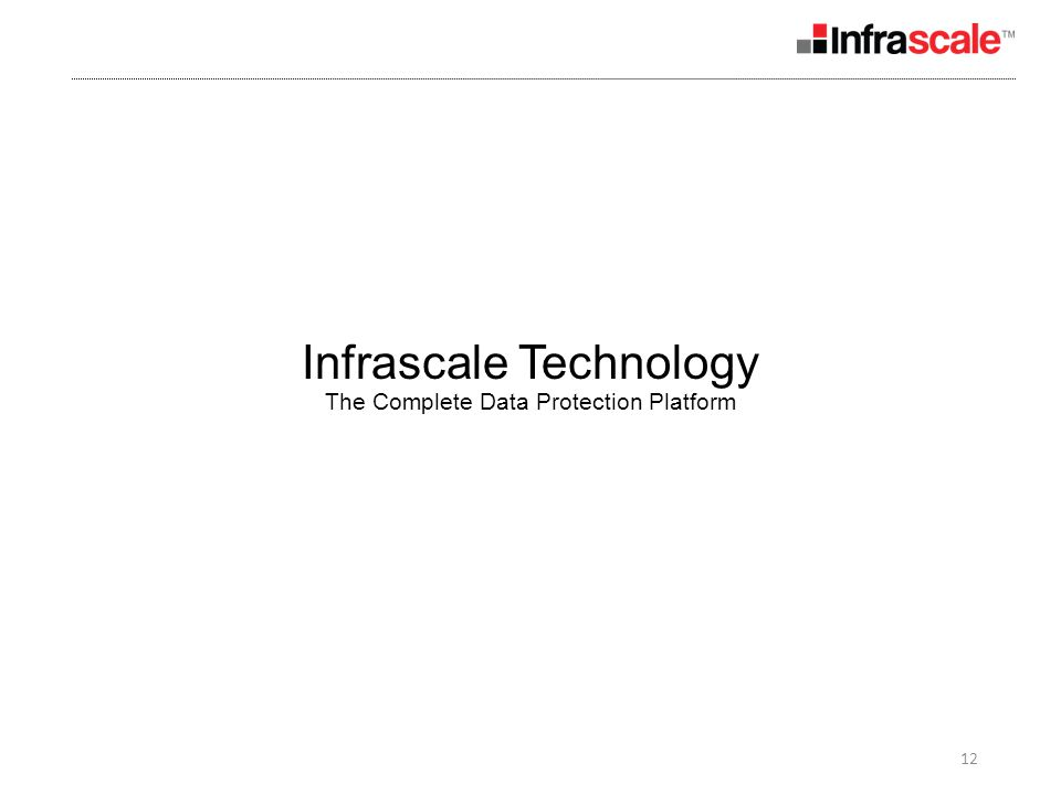 12 Infrascale Technology The Complete Data Protection Platform