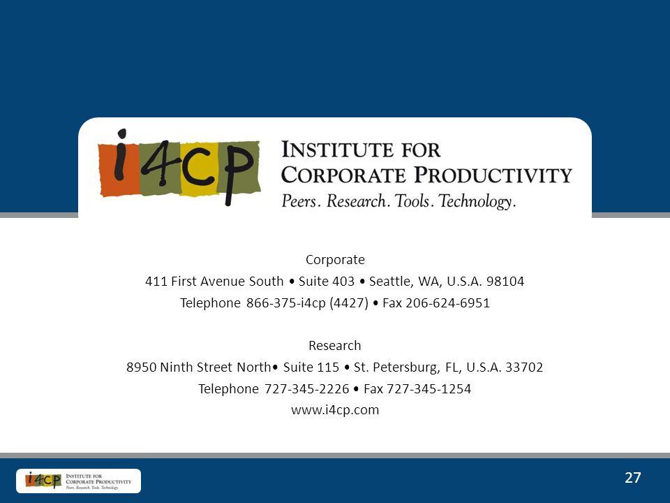 27 Corporate 411 First Avenue South Suite 403 Seattle, WA, U.S.A.